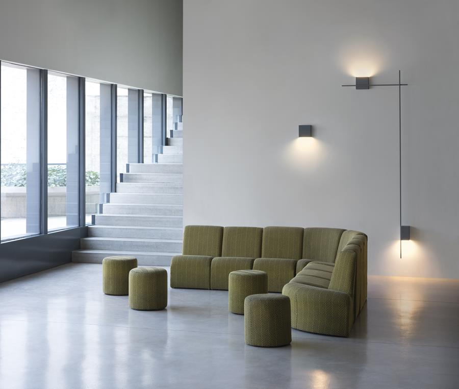 Structural wall lights by Vibia