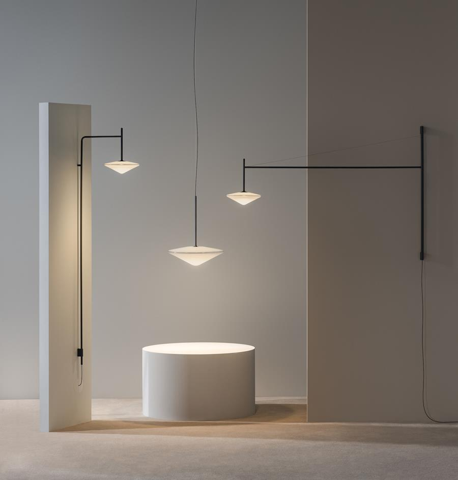Tempo pendant and wall range by Vibia