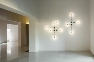 Pin wall lamps by Vibia