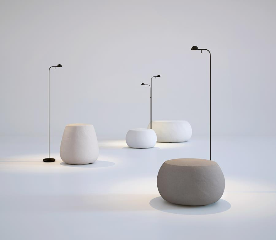 Pin floor lamps by Vibia