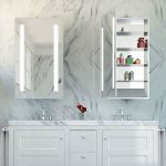 Ascension mirrored cabinet by Electric Mirror