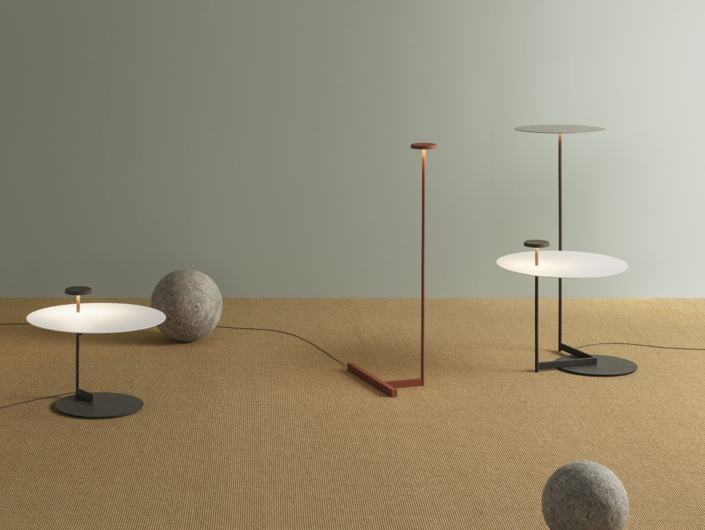 Flat floor lamp range by Vibia