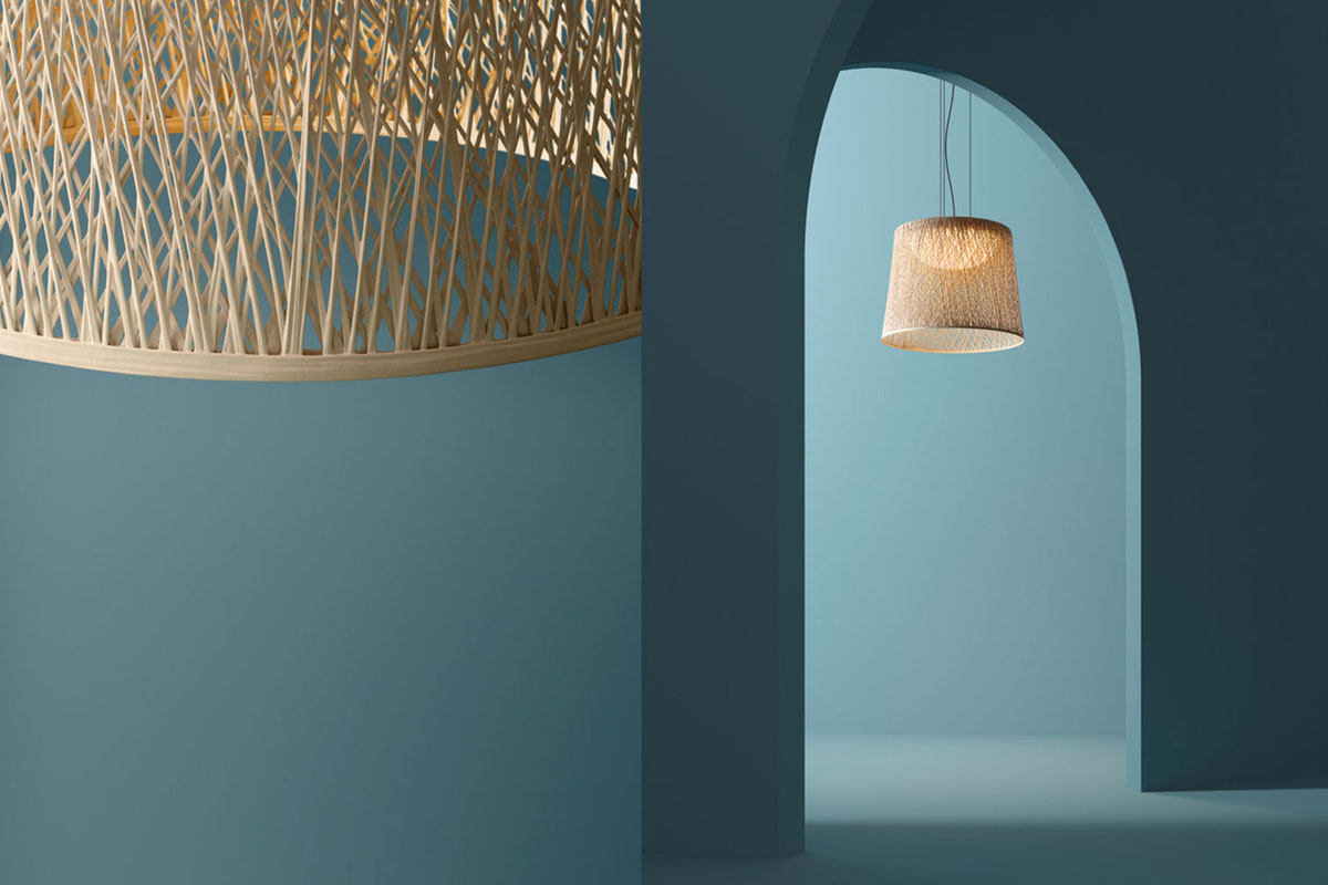 Wind pendant by Vibia in a special Chromatica finish