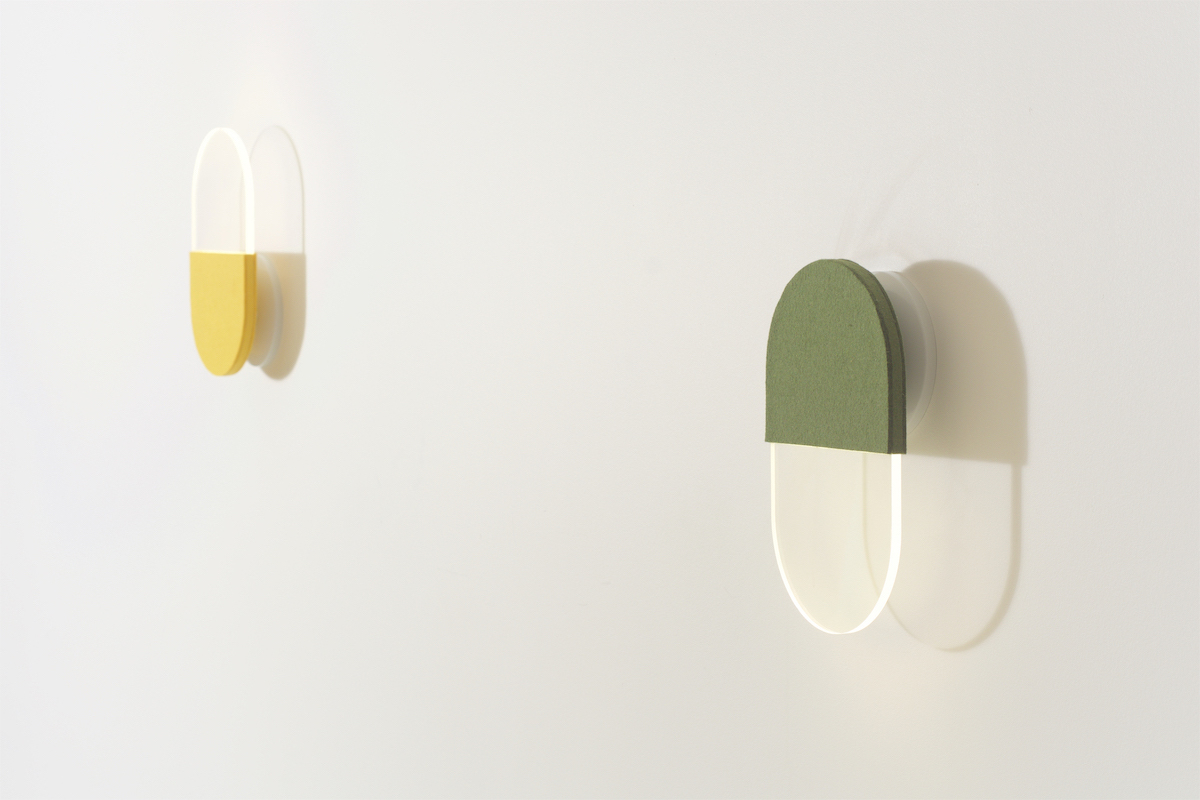 Slab acoustic wall lamps
