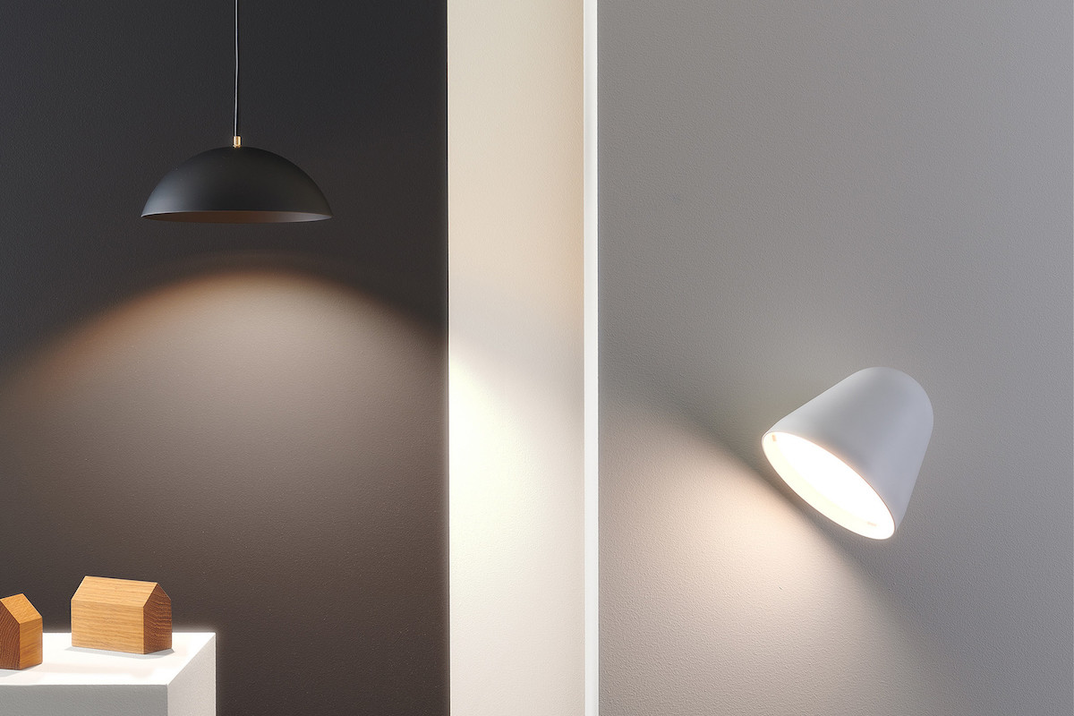 Tilt wall lamp and Pong pendant