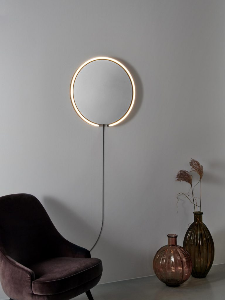Mito sfera corda LED lighted mirror