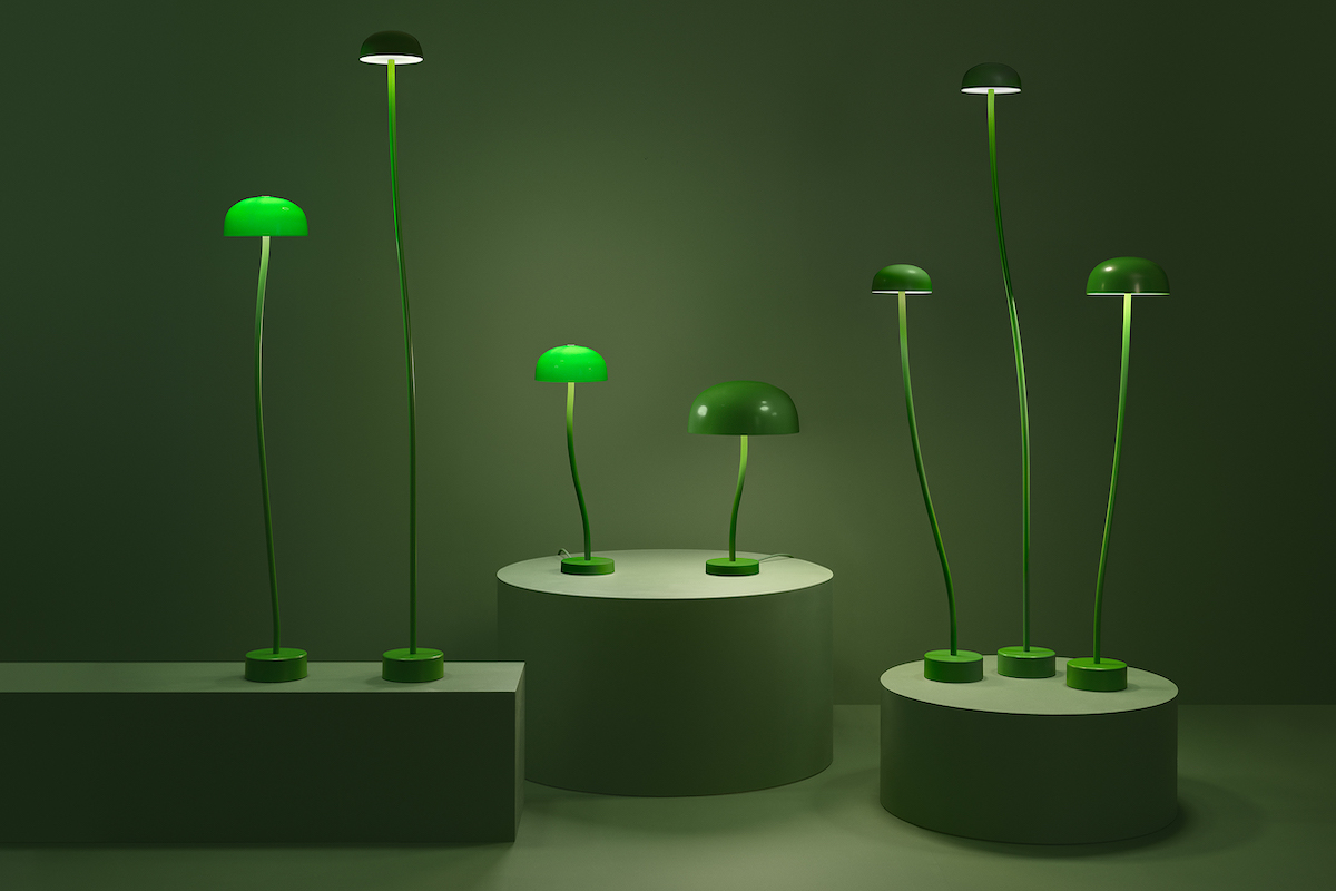 Curve floor and table lamps by Zero
