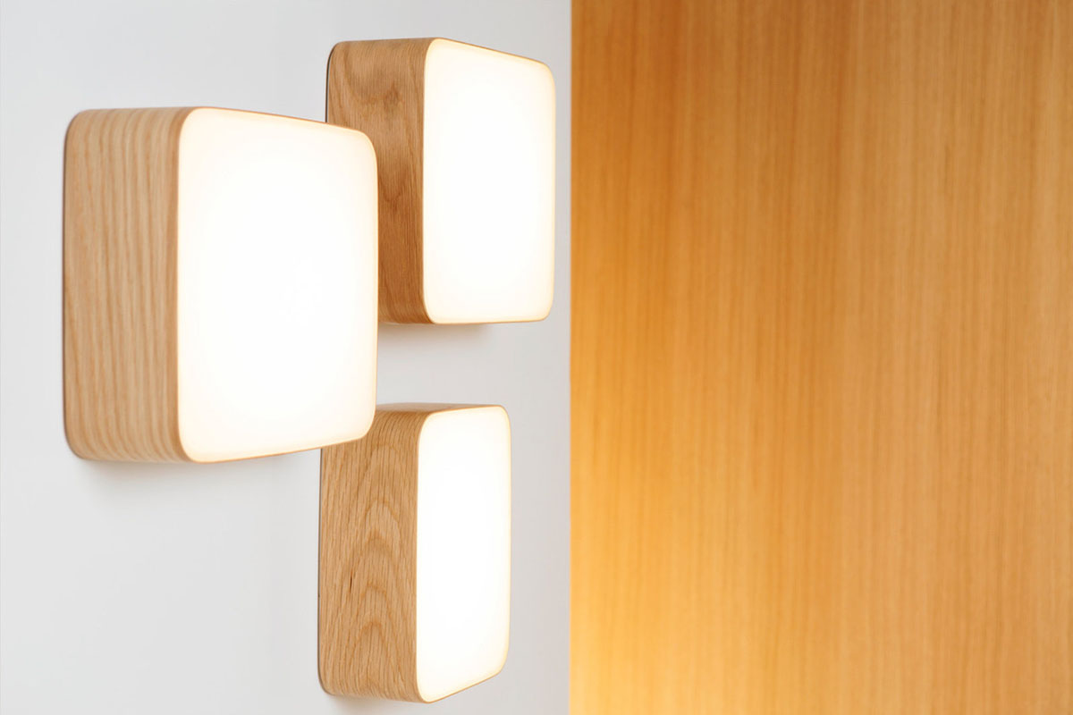 Cube wall and ceiling lamps