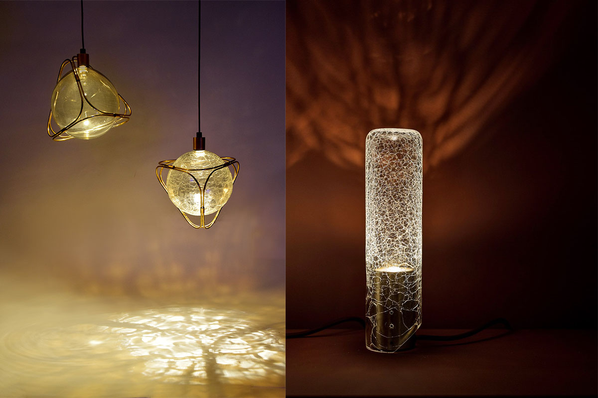 Crackle glass fittings by ADesignStudio
